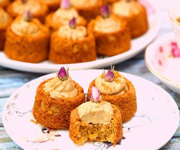 صورة وصفة كيفية طريقة تحضير وعمل وصفات البسبوسة - بسبوسة اللوتس سهلة وسريعة ولذيذة pictures arabian al basbousa cake semolina desserts recipes in arabic easy