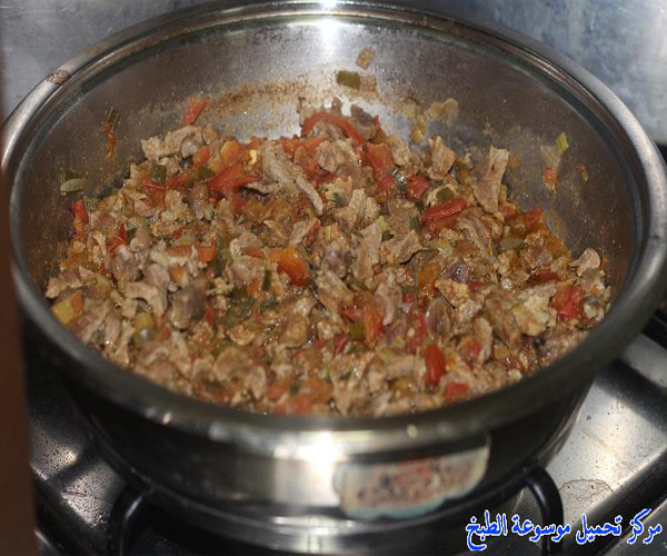 صورة طريقة عمل مقلقل لحم الحاشي السبايسي pictures arabian mugalgal food recipes mugalgal laham meat lamb recipe easy