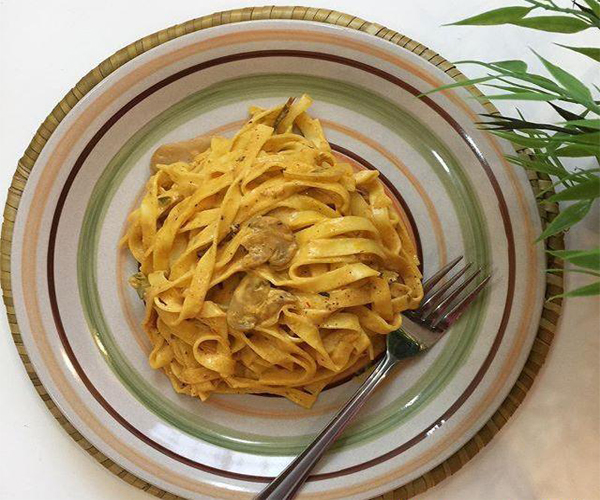 صورة طريقة عمل الفوتشيني بنكهة الميرمية لذيذه سريعه وسهله pictures arabian fettuccine pasta recipes in arabic food recipe easy
