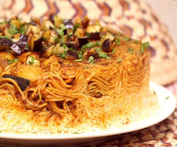 صورة كيفية طريقة تحضير وعمل مقلوبة المكرونة سهله ولذيذه وسريعه pictures arabian macaroni pasta recipes in arabic easy
