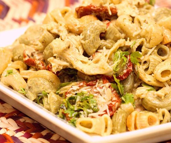 صورة كيفية طريقة تحضير وعمل مكرونة بالطماطم المجففة سهله ولذيذه وسريعه pictures arabian macaroni pasta recipes in arabic easy