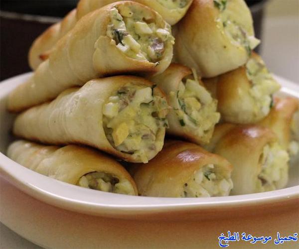 صورة طريقة عمل فطائر فطاير الاقماع بحشوة البيض والنقانق لذيذه سريعه وسهله pictures arabian pie fatayer recipes in arabic food recipe easy