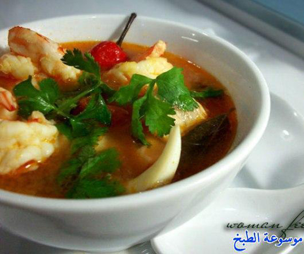 صورة السي فود طريقة عمل توم يام سوب سريع وسهل pictures arabian seafood tom yum soup recipes in arabic food sea food recipe easy