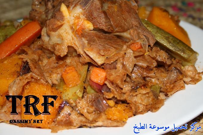طريقة عمل بادية القرصان باللحم الاصلي أكلة شعبية سعودية مشهورة-traditional food recipes in saudi arabia