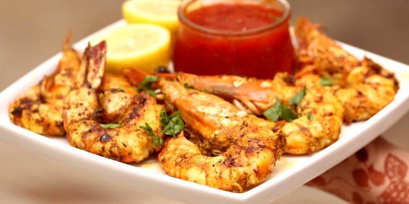 طريقة عمل الروبيان المشوي بالصورmiddle eastern homemade fish food recipes