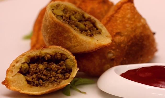 طريقة عمل مقبلات سمبوسة اللحم بالصورmiddle eastern homemade appetizers food recipes arabic