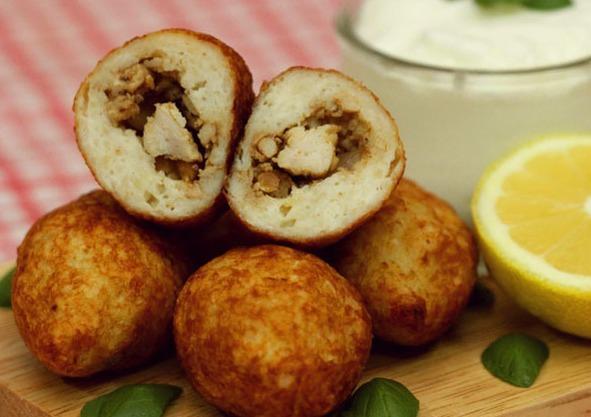 طريقة عمل مقبلات كبة الدجاج بالصورmiddle eastern homemade appetizers food recipes arabic