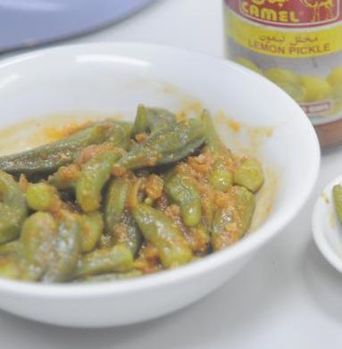 طريقة عمل مخلل الباميه بالصور how to pickle