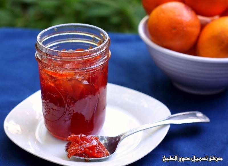 -easy jam making recipes- طريقة عمل مربى البرتقال الاحمر