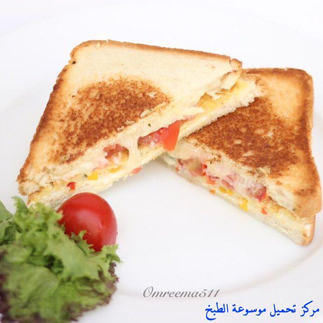 طريقة عمل ساندوتش أومليت البيض بالتوست