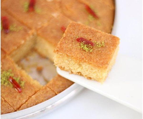 -how to make basbousa cake semolina recipes step by step picturesطريقة عمل البسبوسة بالصور خطوة بخطوة