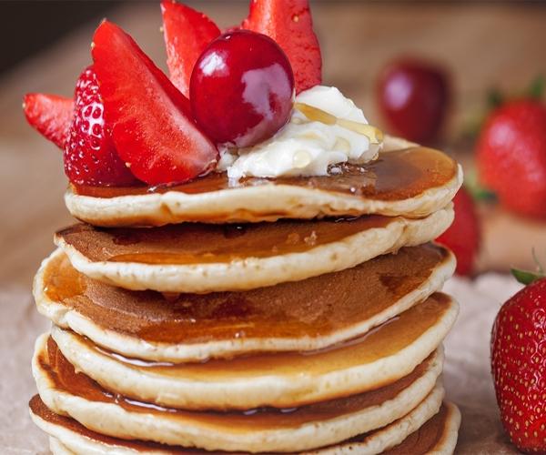 -how to make pancakes cake recipes step by step picturesطريقة عمل بان كيك بالصور خطوة بخطوة