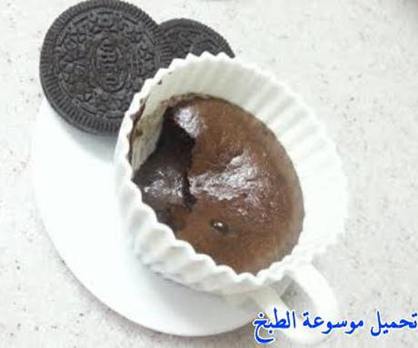 صورة وصفة كيفية طريقة تحضير وعمل السوفليه - سوفليه الاوريو بسيط وسهل وسريع ولذيذ pictures arabian souffle desserts sweets recipes in arabic easy