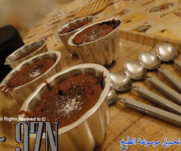 صورة وصفة كيفية طريقة تحضير وعمل السوفليه - سوفليه بخليط الكيك الجاهز سهل وسريع ولذيذ pictures arabian souffle desserts sweets recipes in arabic easy