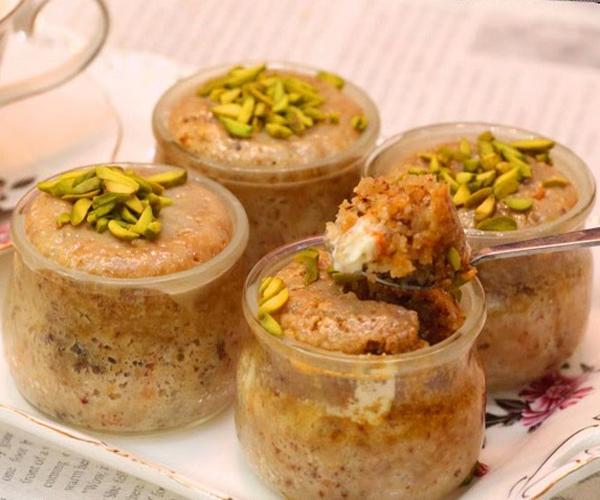 صورة وصفة كيفية طريقة تحضير وعمل وصفات حلى الكاسات - حلى كاسات البسبوسة سهل وسريع ولذيذ pictures arabian sweet cup desserts recipes in arabic easy