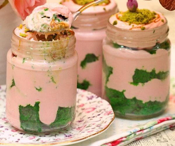 صورة وصفة كيفية طريقة تحضير وعمل وصفات حلى الكاسات - حلى كاسات الفستق سهل وسريع ولذيذ pictures arabian sweet cup desserts recipes in arabic easy