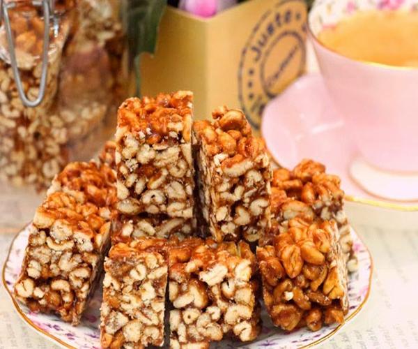 صورة وصفة كيفية طريقة تحضير وعمل حلى منزلي حلى مكعبات المارس سهل ولذيذ وسريع pictures arabian homemade desserts recipes candy in arabic sweets easy