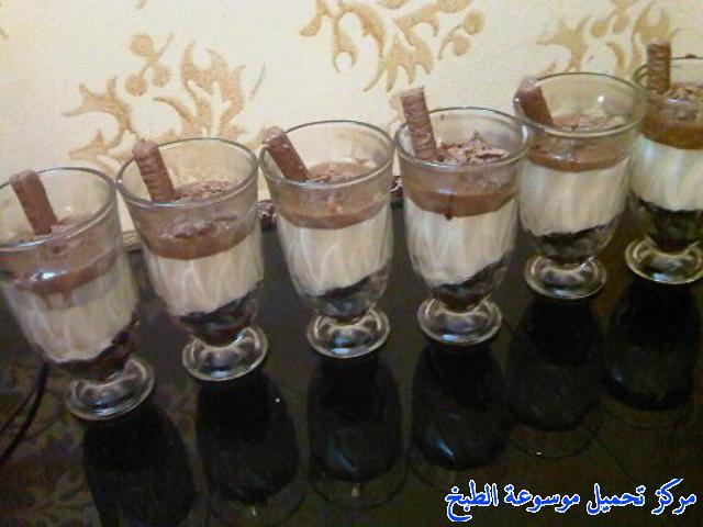 صورة وصفة كيفية طريقة تحضير وعمل وصفات حلى الكاسات - حلى كاسات الجالكسي بالاوريو والكريمه سهل وسريع ولذيذ pictures arabian sweet cup desserts recipes in arabic easy