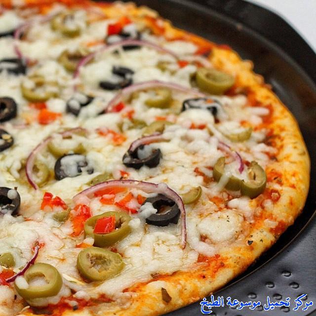 -how to make pizza step by step picturesطريقة عمل البيتزا عجينة الأعشاب اللذيذة بالصور خطوة بخطوة